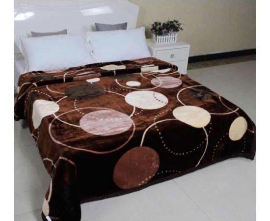 Patura Dubla Groasa, (PDG 6) Buline pe maro, 200 x 230 cm, pentru paturi de 2 persoane, Good Life [0]
