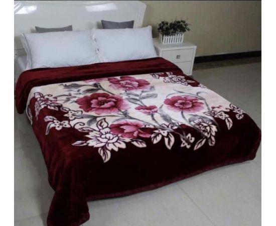 Patura Dubla Groasa, (PDG 6) Visniu cu trandafiri, 200 x 230 cm, pentru paturi de 2 persoane, Good Life [0]