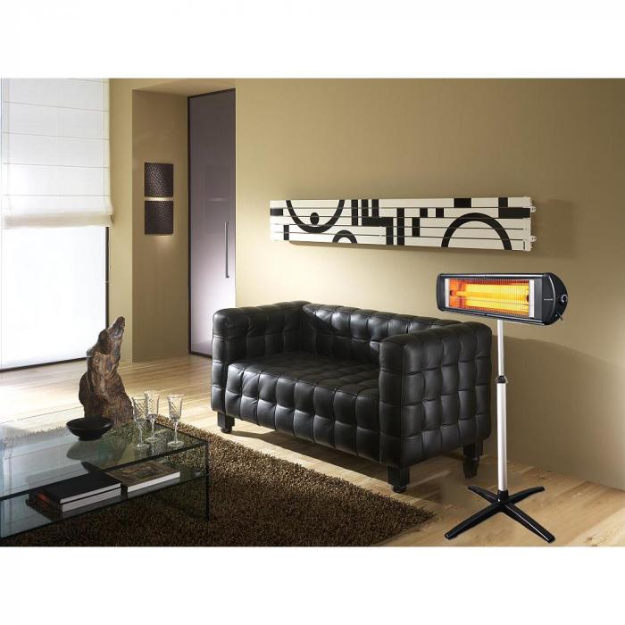 Radiator cu picior telescopic (E 50), 2500 W, termostat reglabil, montabil pe perete [1]