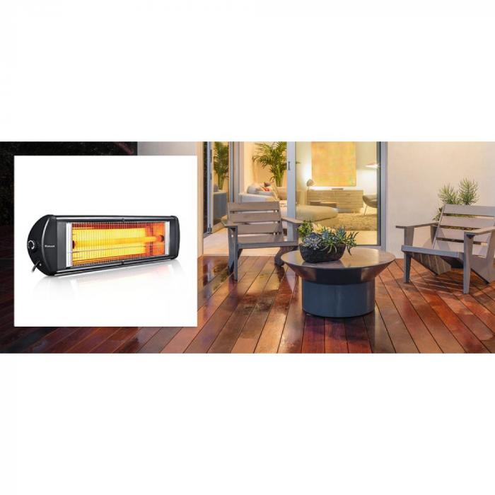 Radiator cu infrarosu (E 51), 2500 W, termostat reglabil, montabil pe perete [2]