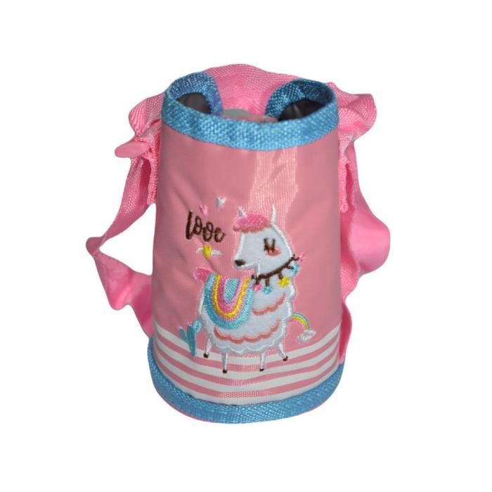 Termos pentru copii, roz (E 58), cu pai, Inox, 0.5L [2]
