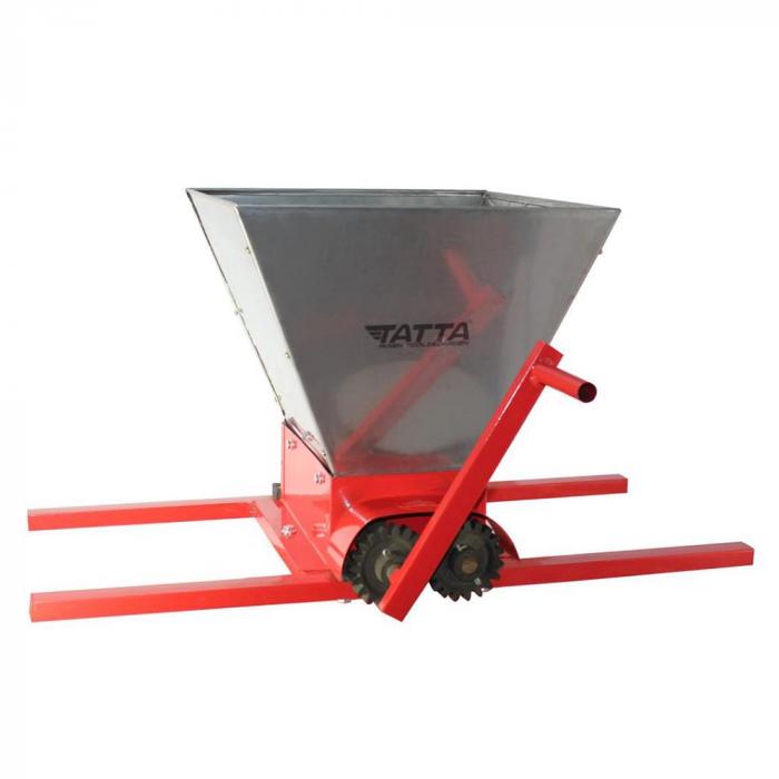 Zdrobitor de struguri (G 3), capacitate maruntire 300 kg/h, cuva 25 l, INOX [0]