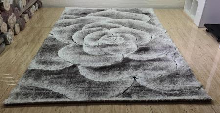 Covor 3D - Matase (gri cu negru)3