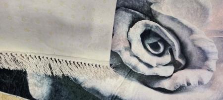 Covor cu imprimeu Floare, (CP 2) 80x150 cm, print digital, antiderapant, franjuri detasabili [1]