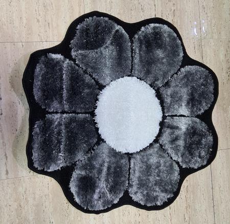 Covor Floare - Negru [0]
