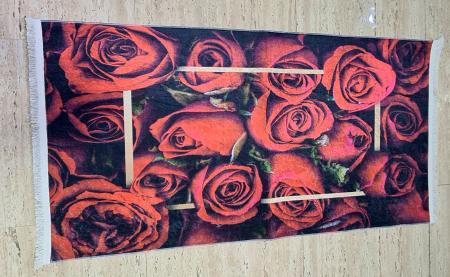 Covor Trandafiri 80x150 cm, (CP 5) print digital, antiderapant cu franjuri [0]