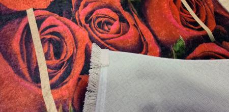 Covor Trandafiri 80x150 cm, (CP 5) print digital, antiderapant cu franjuri [1]