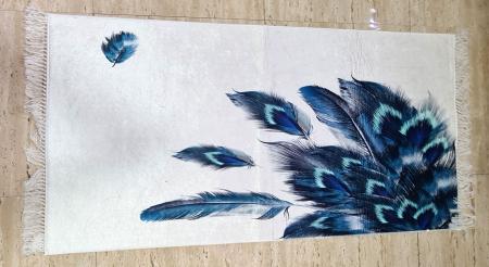 Covor Pene 80x150 cm, (CP 9) print digital, antiderapant cu franjuri [0]