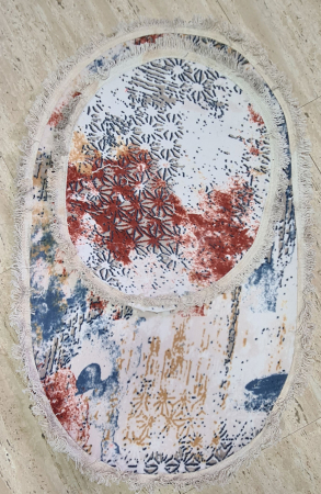 Covorase de baie cu ciucuri, (CB 18) set 2 bucati, 100x60 cm, AB TEKSTIL [0]