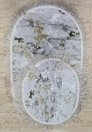 Covorase de baie cu ciucuri, (CB 2) set 2 bucati, 100x60 cm, AB TEKSTIL [0]