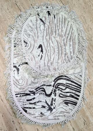 Covorase de baie cu ciucuri, (CB 26) set 2 bucati, 100x60 cm, AB TEKSTIL [0]