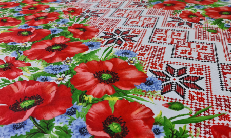 Față de masă din Bumbac cu flori2