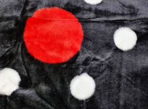 Patura pufoasa, Groasa, Negru, Buline, 180 x 230 cm, pentru paturi de 2 persoane, Good Life (PGP 11) [1]