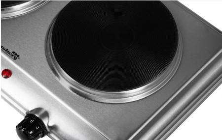 Plita electrica cu inductie din Inox, cu 2 spatii de gatire, putere 1500W + 1000W [2]