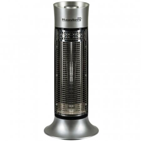 Radiator electric pentru exterior, fibra carbon (E 53), 900 W, 2 nivele de putere, Argintiu [0]