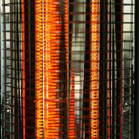 Radiator electric pentru exterior, fibra carbon (E 53), 900 W, 2 nivele de putere, Argintiu [1]
