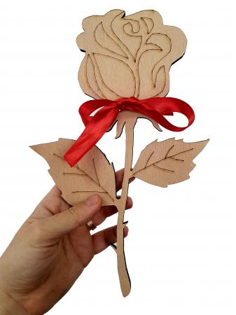 PACHET PRIMAVARA (Tricou + trandafir din lemn)1