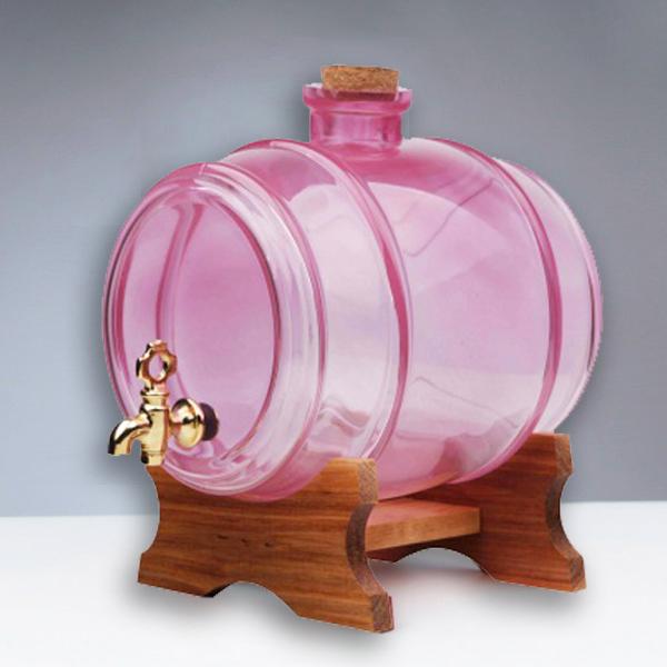 Butoi din sticla roz cu robinet - 1 litru 0