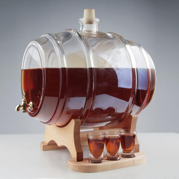 Set butoi din sticla cu 6 pahare 1