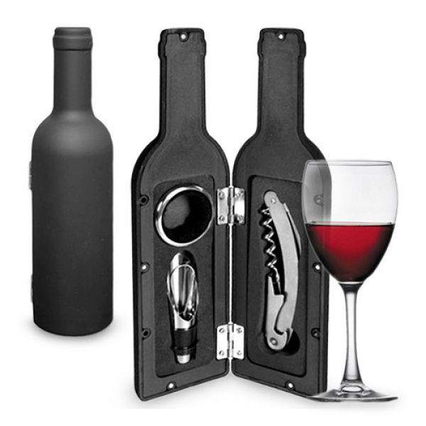 Accesorii de vin in forma de sticla (3piese) 0