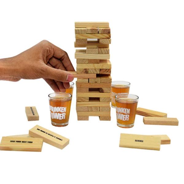 Joc de societate - Jenga cu shoturi/Drunken Tower 2