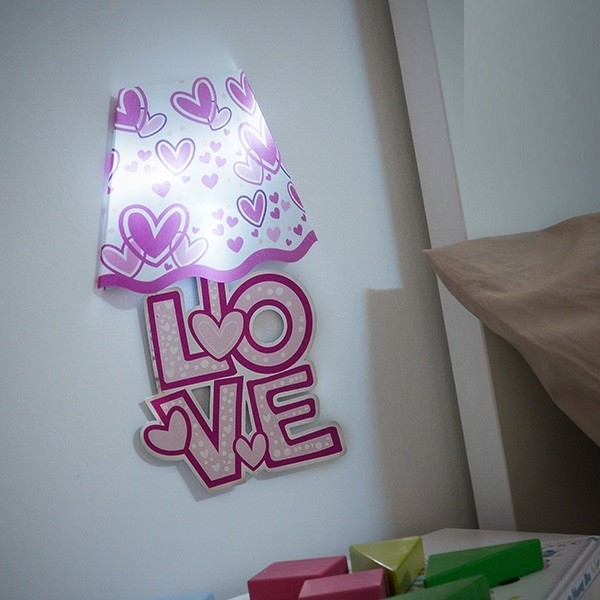 Autocolant de perete cu LED 0