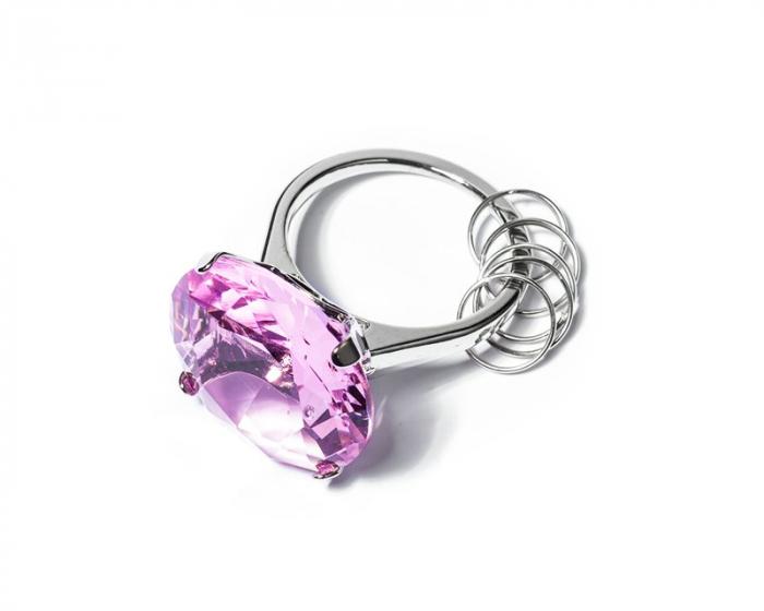 Breloc de chei Inel cu diamant 2