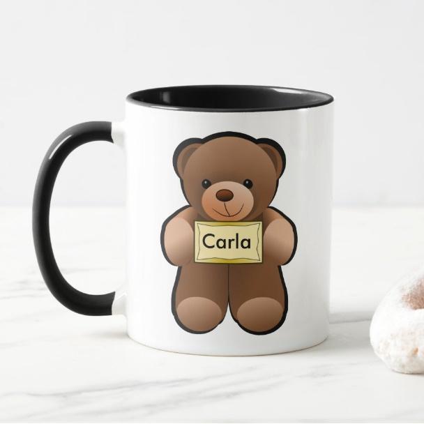 Cana personalizata cu text - Teddy bear 1
