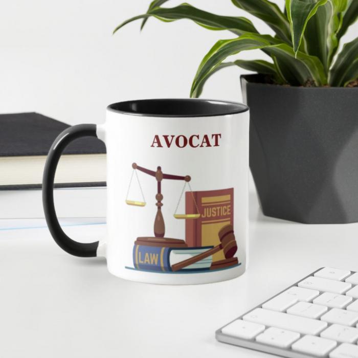 Cana personalizata cu text- Avocat 0