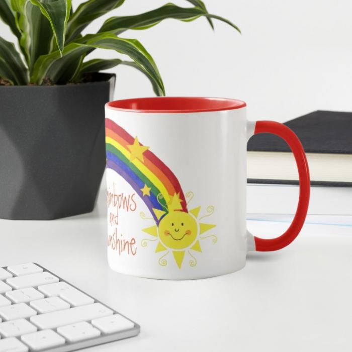 Cana personalizata Rainbows 0