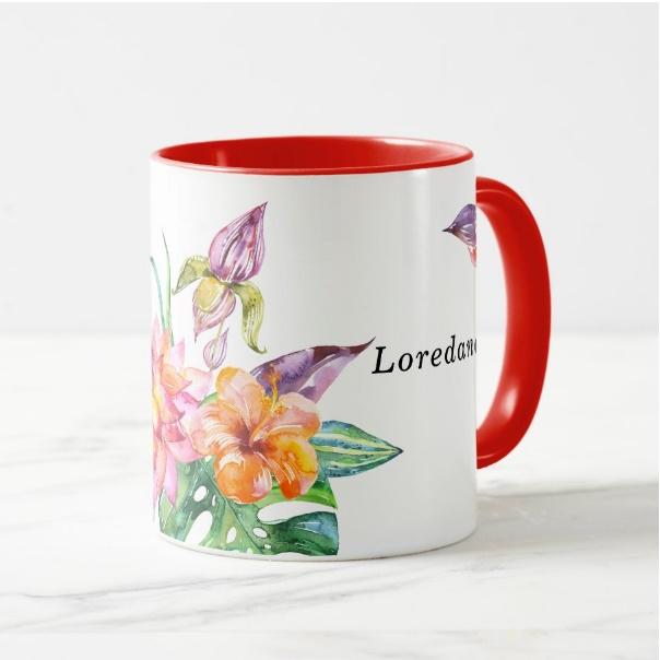 Cana personalizata Floral 3