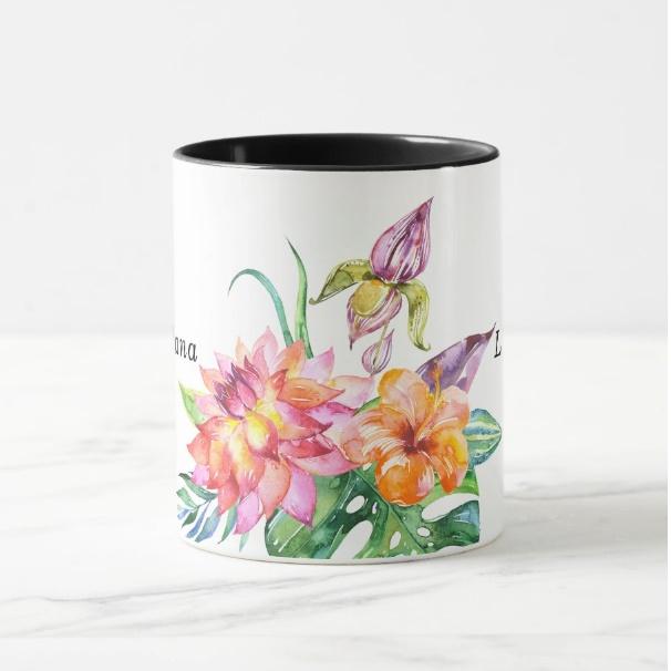 Cana personalizata Floral 1