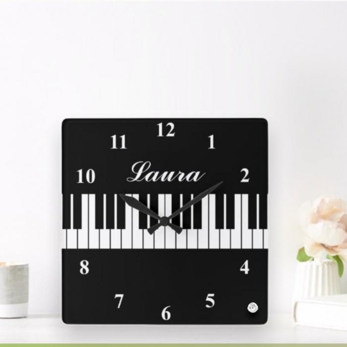 Ceas personalizat - Piano 0