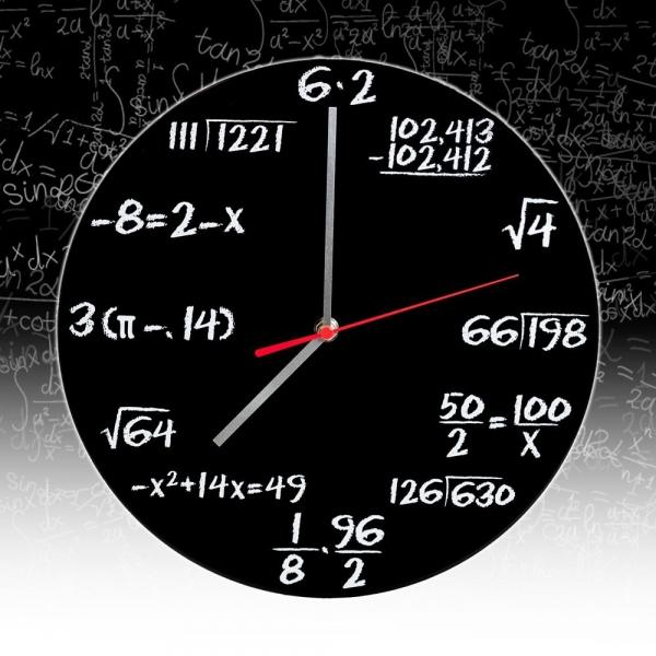 Ceasul de perete Matematica 6