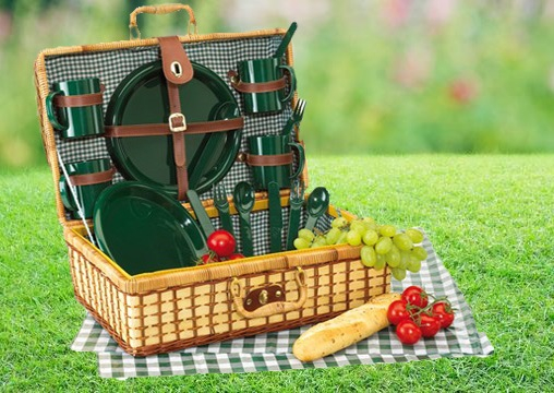 Cos de picnic GREEN PARK pentru 4 persoane