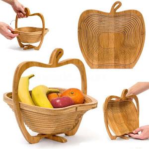 Cos pliabil din lemn pentru fructe 3
