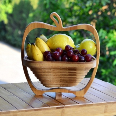 Cos pliabil din lemn pentru fructe 0