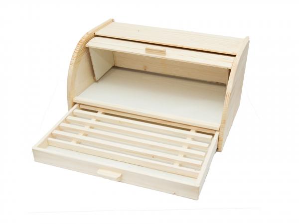 Cutie din lemn pentru paine cu tacator 2
