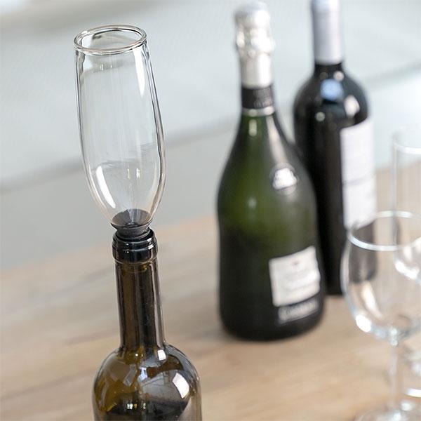 Dop din sticlă pentru sticle Pahar Glam 0