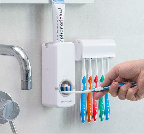 Dozator pentru pasta de dinti cu suport pentru periute 1