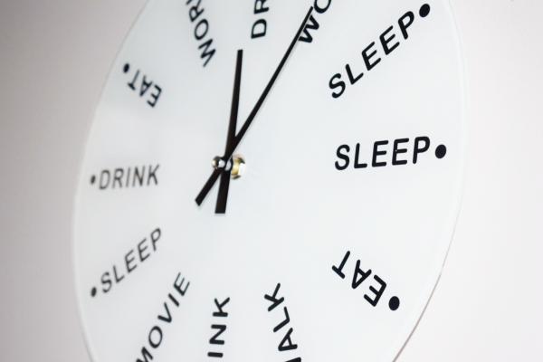 Ceas de perete Drink, eat, sleep 1