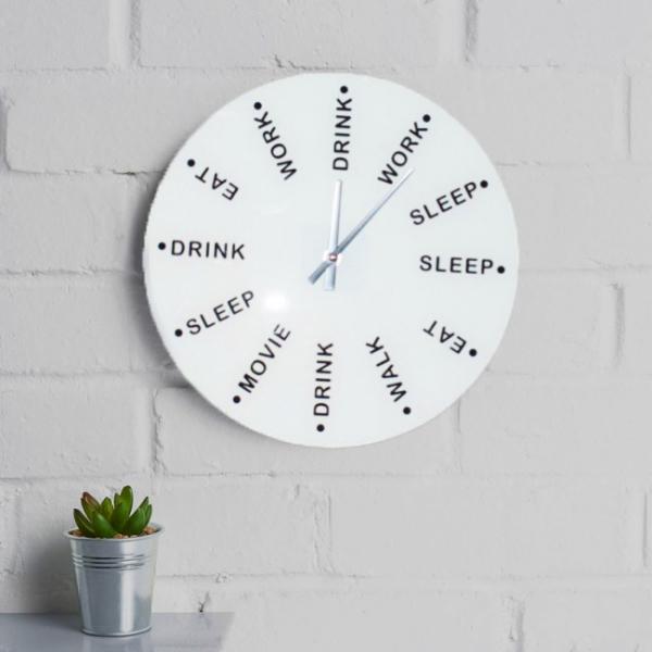 Ceas de perete Drink, eat, sleep 0
