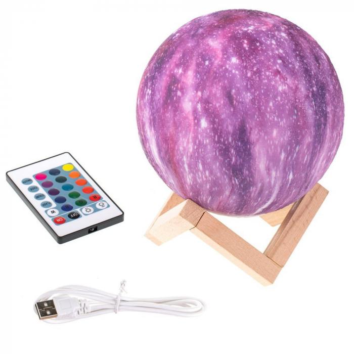 Lampa 3D - STARS - 16 culori 4
