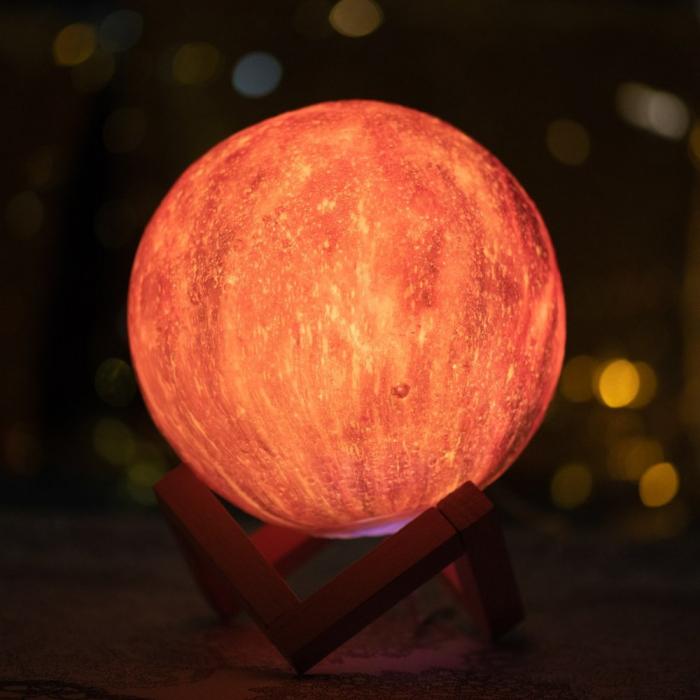 Lampa 3D - STARS - 16 culori 0