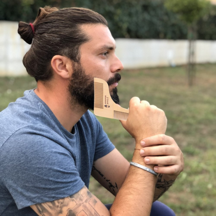 Set de pieptene din lemn pentru barbă și mustață 1
