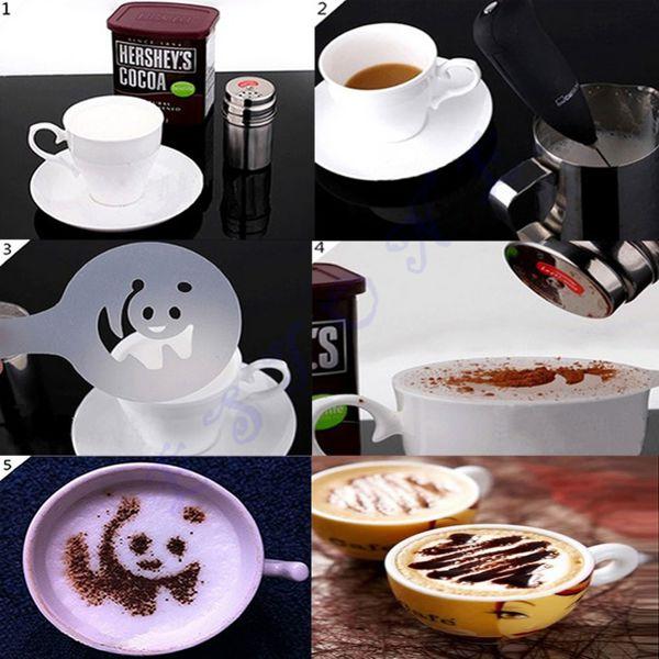 Set 16 forme pentru decorat cafeaua 2