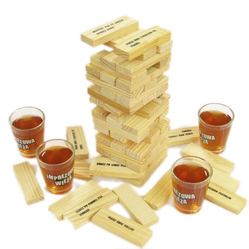 Joc de societate - Jenga cu shoturi/Drunken Tower 4