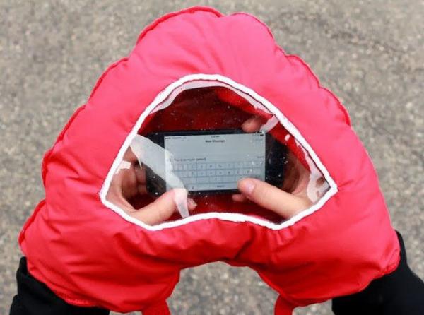 Manusa in forma de inima cu fereastra pentru telefon 0