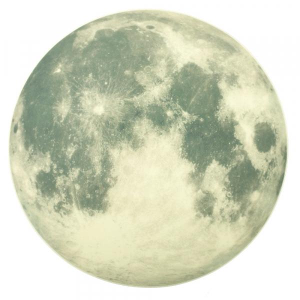 StIcker fosforescent de perete Luna 1