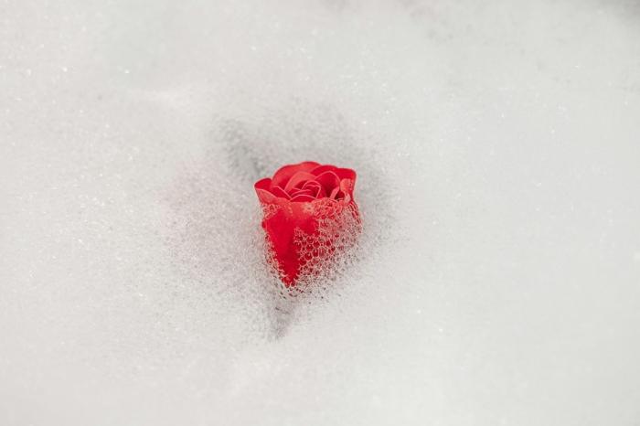 Trandafiri de săpun în cos de metal 1